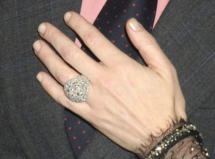 Cate Blanchett wears a statement ring