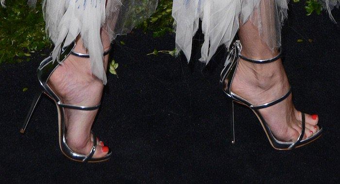 Diane Kruger's feet in Giuseppe Zanotti sandals