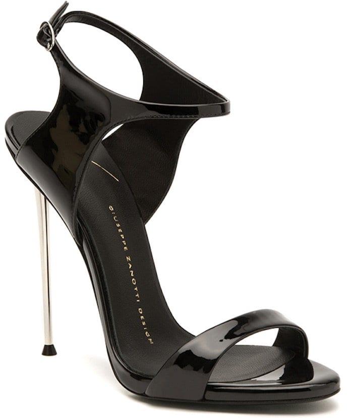 Giuseppe Zanotti Fall 2014 Black Patent Sandals