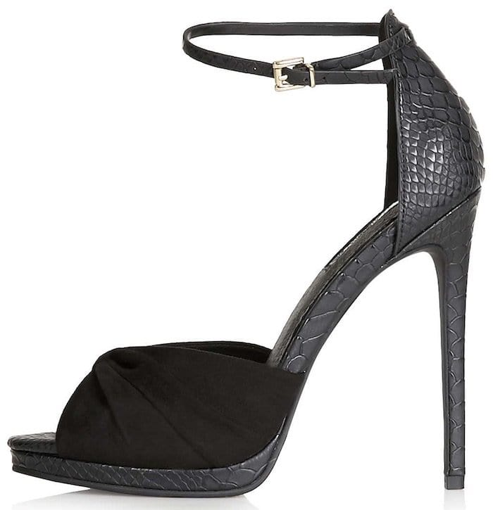 Rocco Ruched High Sandals