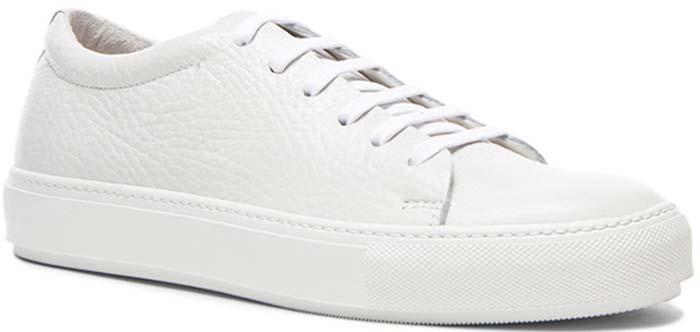 "Acne Studios ""Adrian"" Grain Leather Sneakers"