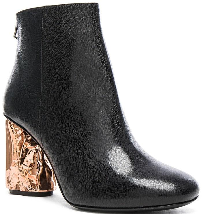 Acne Ora Palm Boots Black Copper