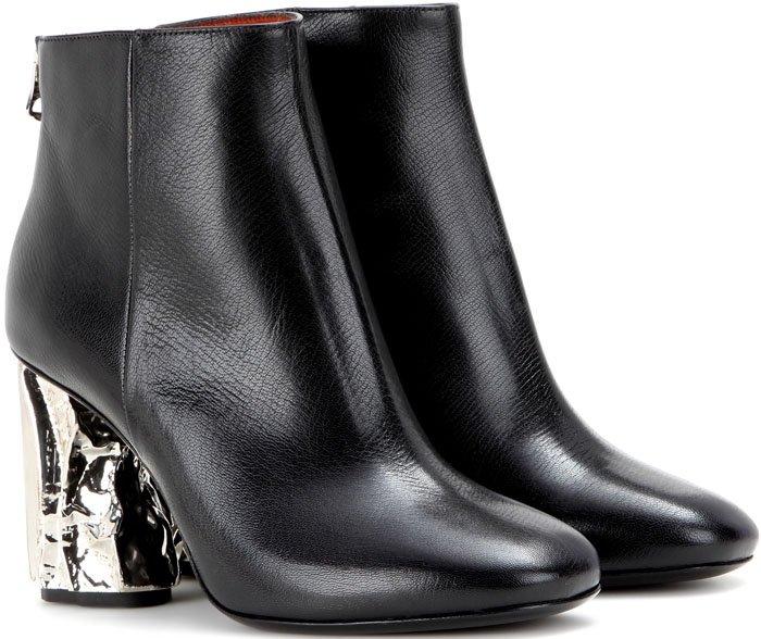 Acne Ora Palm Boots Black Silver