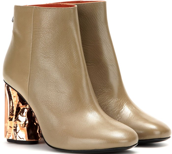 Acne Ora Palm Boots Tan Copper