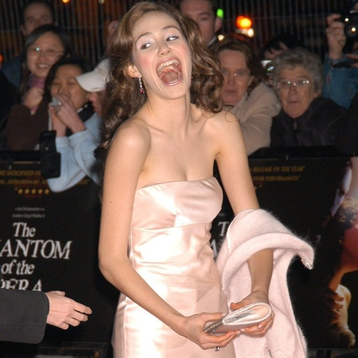 """Emmy Rossum attends the world premiere of """"Phantom Of The Opera"""" at Leicester Square in London"""