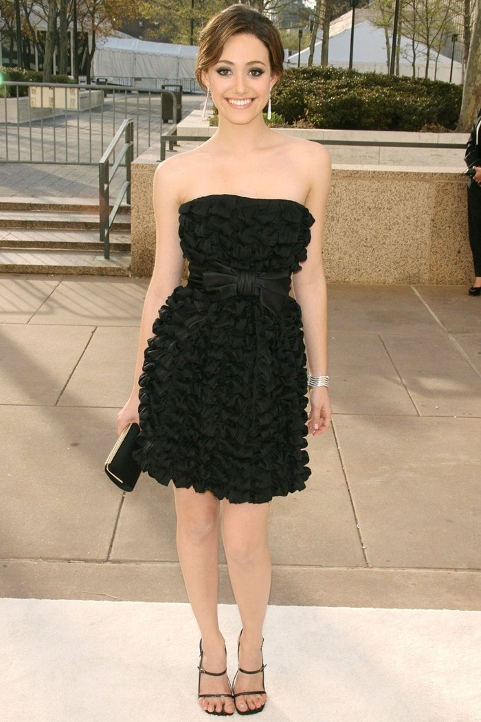 "Actress Emmy Rossum attends the Metropolitan Opera's Opening Night Gala Benefit Performance of ""La Fille du Regiment"""