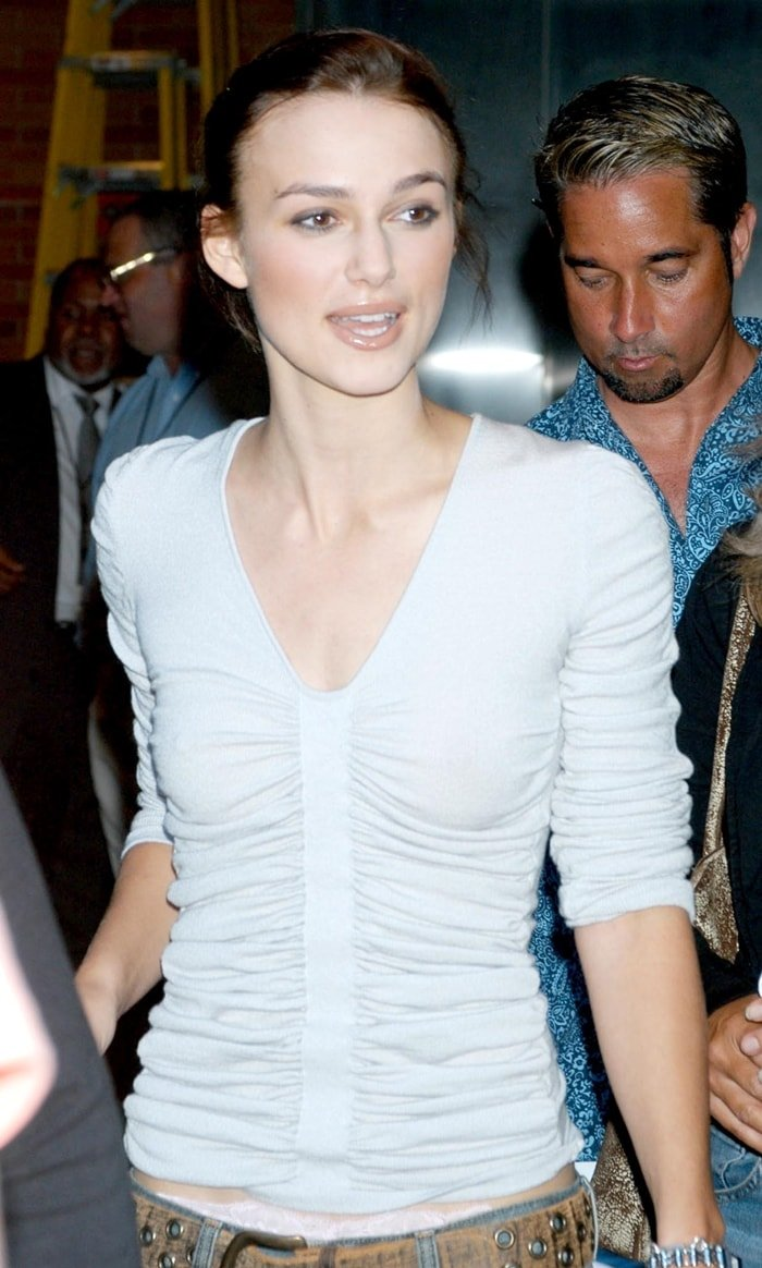 Actress Keira Knightley of Bend It Like Beckham promoting the movie in New York City