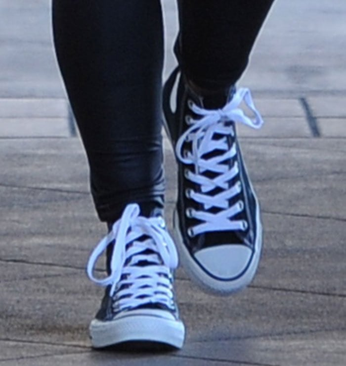 f27ec1b64598 Amber Rose Out in Converse Chuck Taylor All Star Shoes