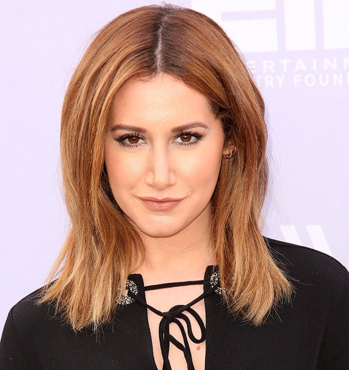 Ashley Tisdale shows off her ombre hair at the 24th annual Women in Entertainment Breakfast