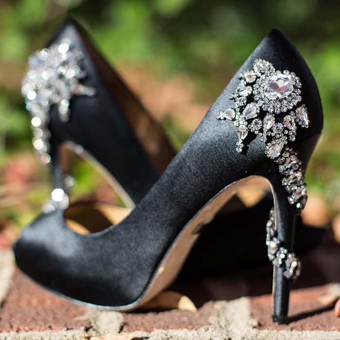 Badgley Mischka Royal Black Pumps