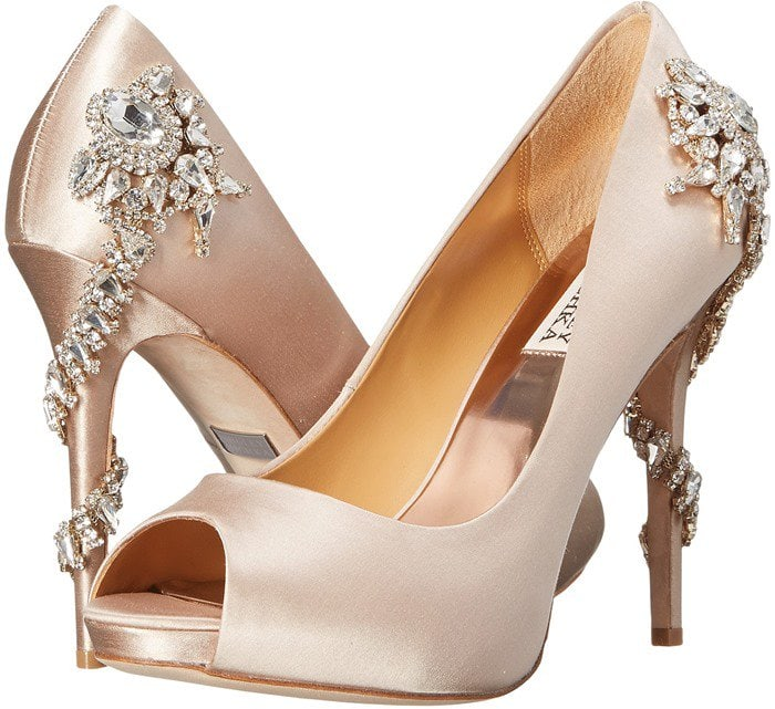 Badgley Mischka Royal Nude Satin