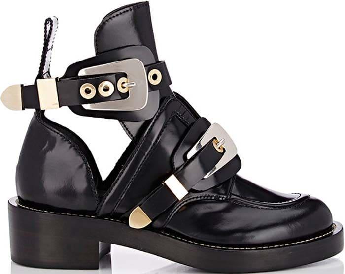 Balenciaga Double Buckle Strap Boots