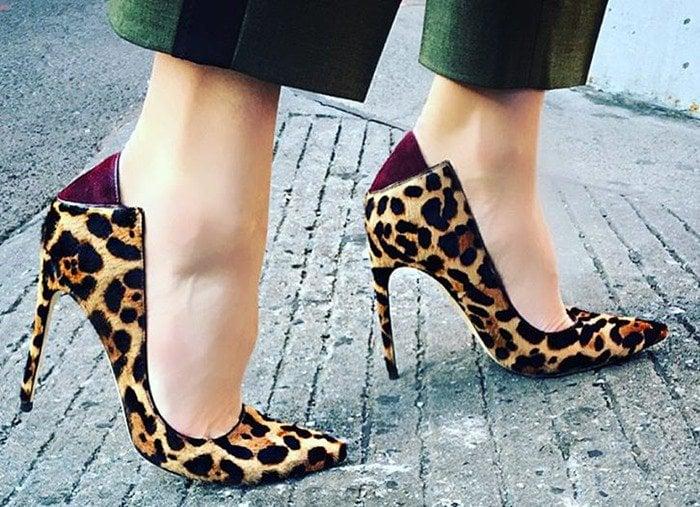 Brian Atwood Animal Mercury Leopard-print Calf Hair & Suede Pumps