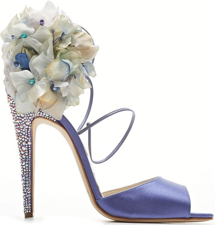 Brian Atwood Aurora embellished satin sandal