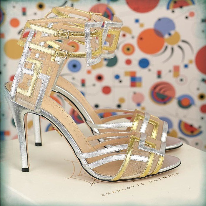 Charlotte Olympia Silver Between The Lines