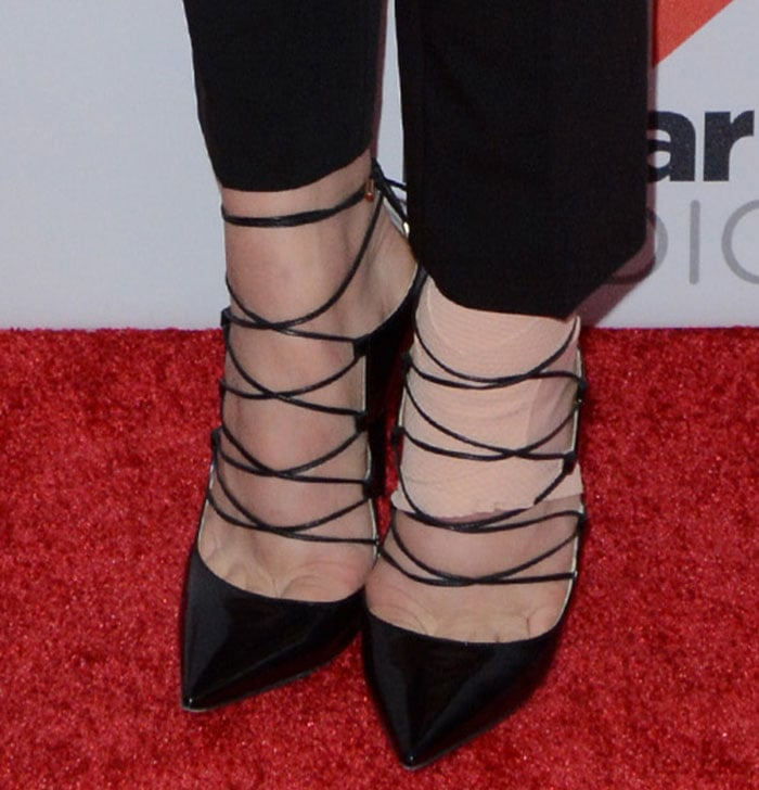 Chloe Grace Moretz's feet in Jimmy Choo pumps
