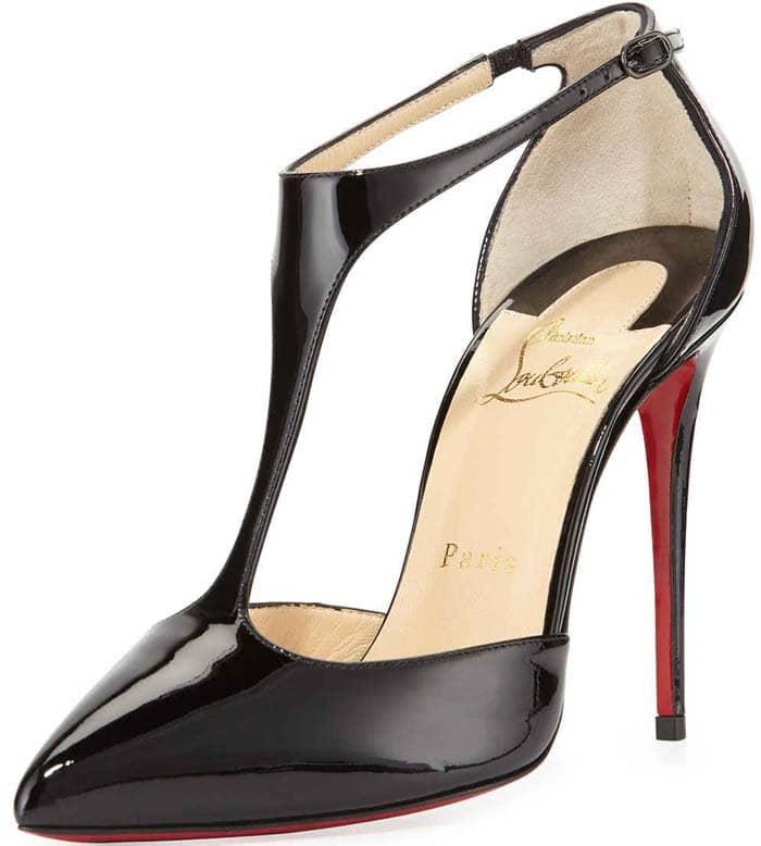 Black Patent Christian Louboutin J String Sandals