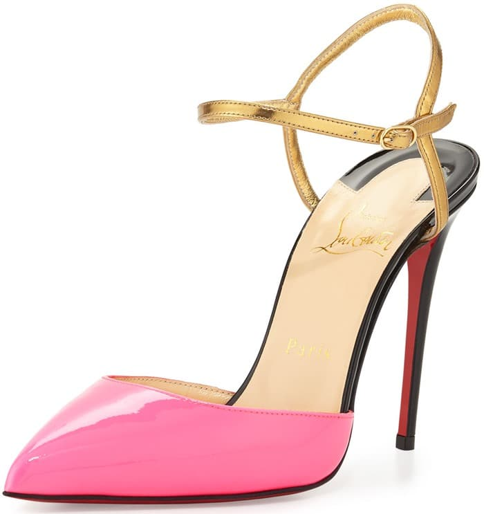 Christian Louboutin Rivierina Patent Red Sole Pump
