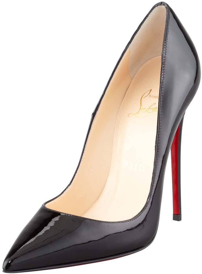 """Christian Louboutin """"So Kate"""" 120mm in Black Patent"""