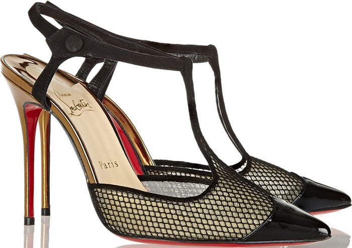 Christian-Louboutin-T-Cool-suede-trimmed-mesh-pumps