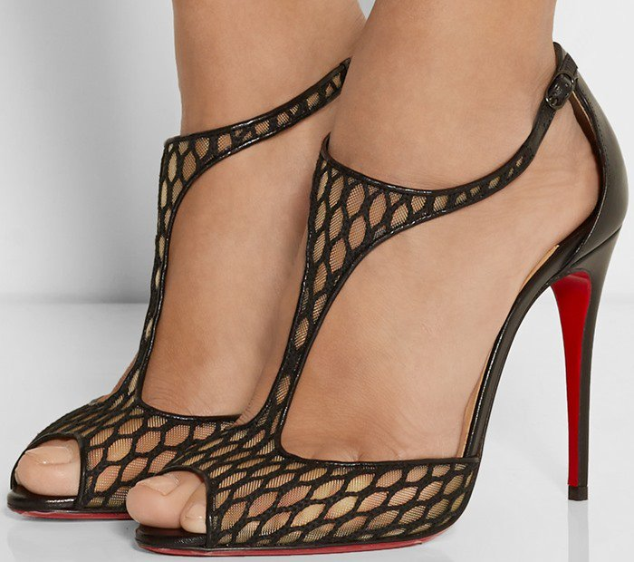 Christian Louboutin Tiny Leather & Lace Sandals