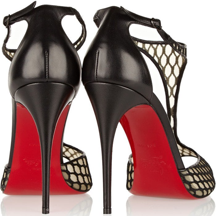 """Christian Louboutin """"Tiny"""" Leather and Lace Sandals"""