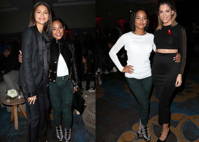 Christina Milian poses with eventgoers — such as host Zendaya — at the World AIDS Day Benefit