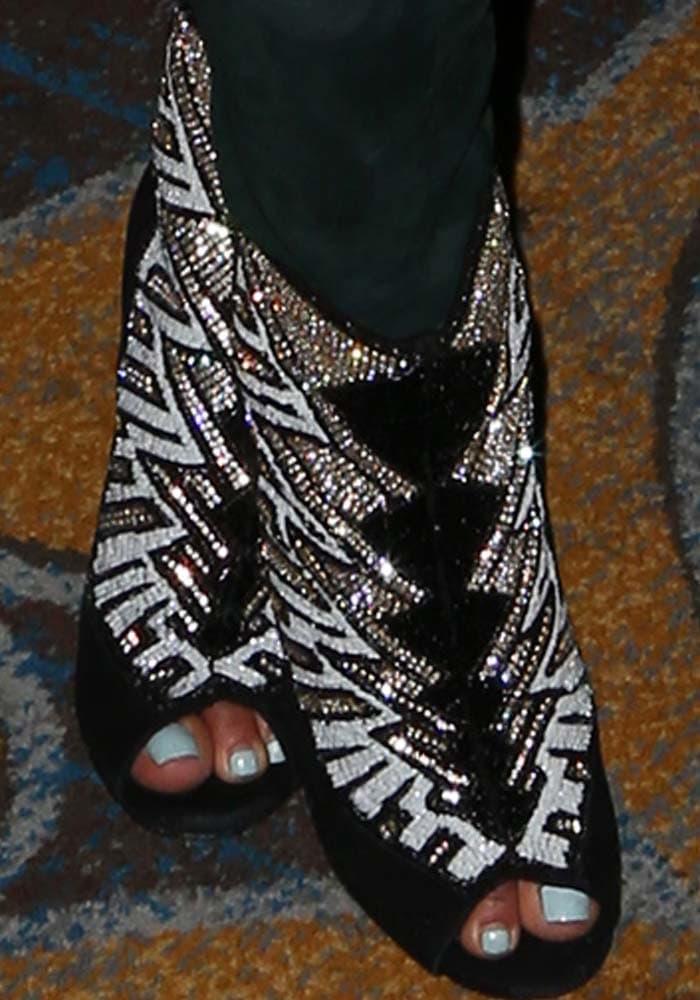 Christina Milian's feet in Balmain x H&M heels