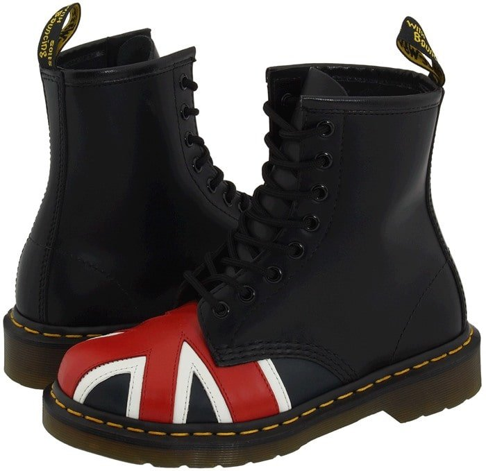 Dr. Martens 1460 W Black Smooth Union Jack