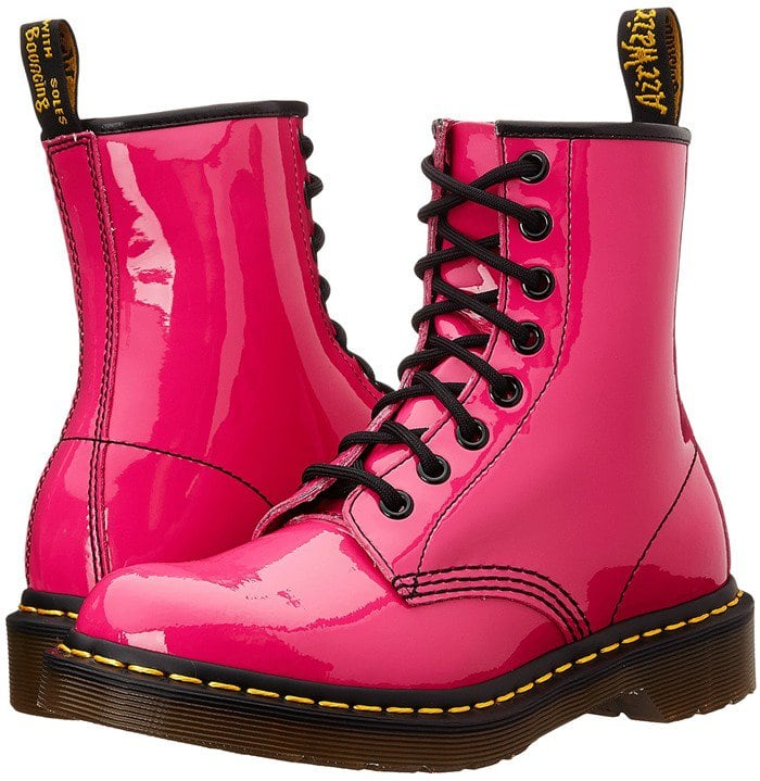 Dr. Martens 1460 W Hot Pink Patent