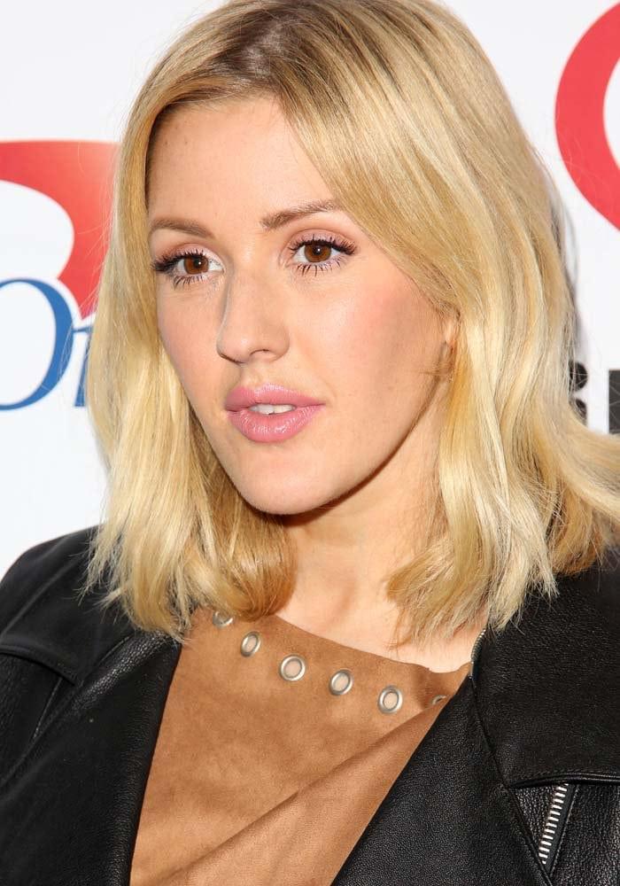 Ellie Goulding wears her blonde hair down at KIIS FM's 2015 Jingle Ball