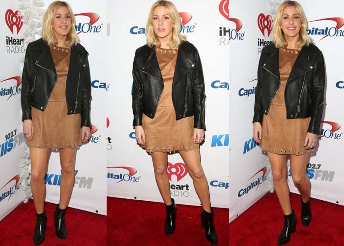 Ellie Goulding wears a Glamourous dress on the red carpet