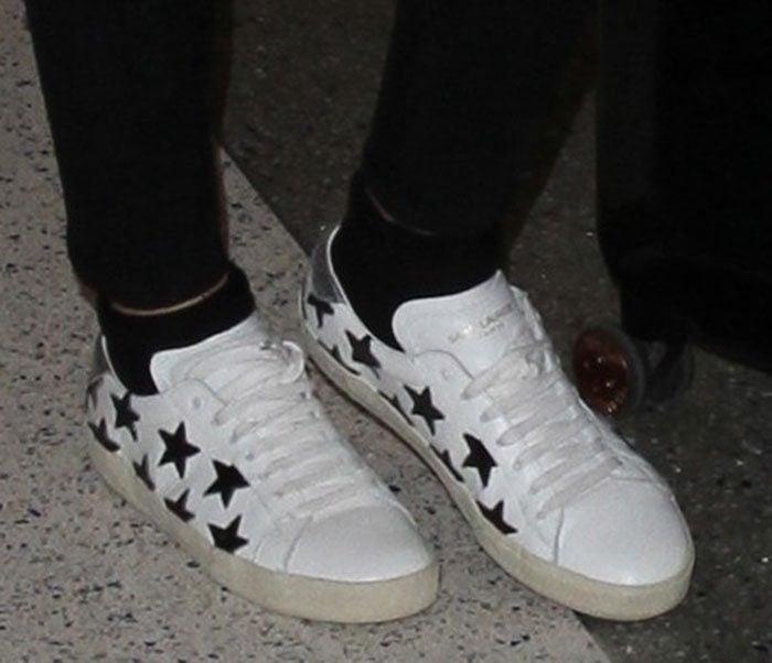 Ellie-Goulding-Saint-Laurent-Star-Print-Sneakers