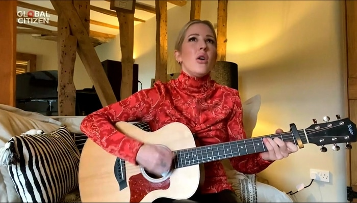 English singer and songwriter Ellie Goulding writes all of her own songs