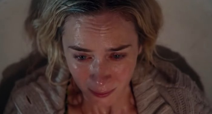 Emily Blunt as Evelyn Abbott risks everything to give birth to a child in A Quiet Place