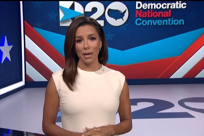 Eva Longoria played a prominent role on the first night of the Democratic National Convention
