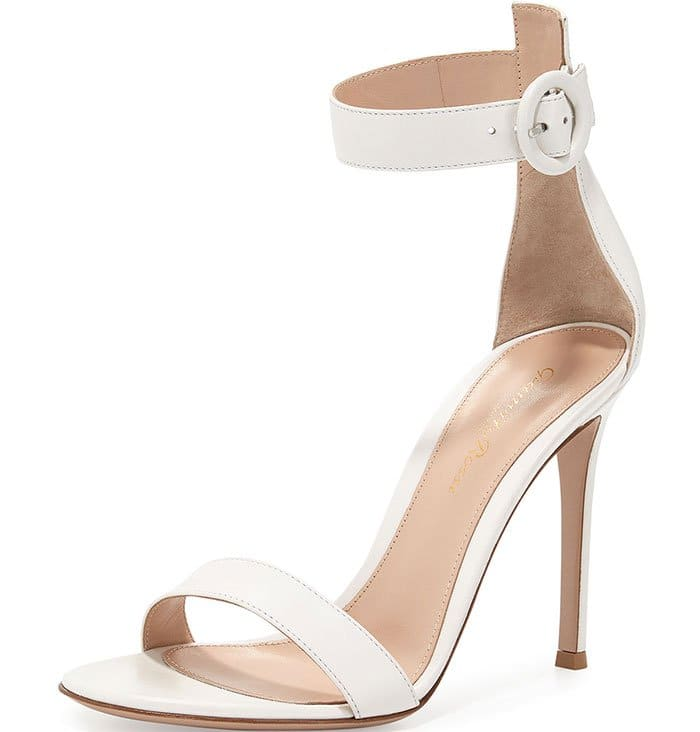 Gianvito-Rossi-Leather-Ankle-Wrap-Sandals-White