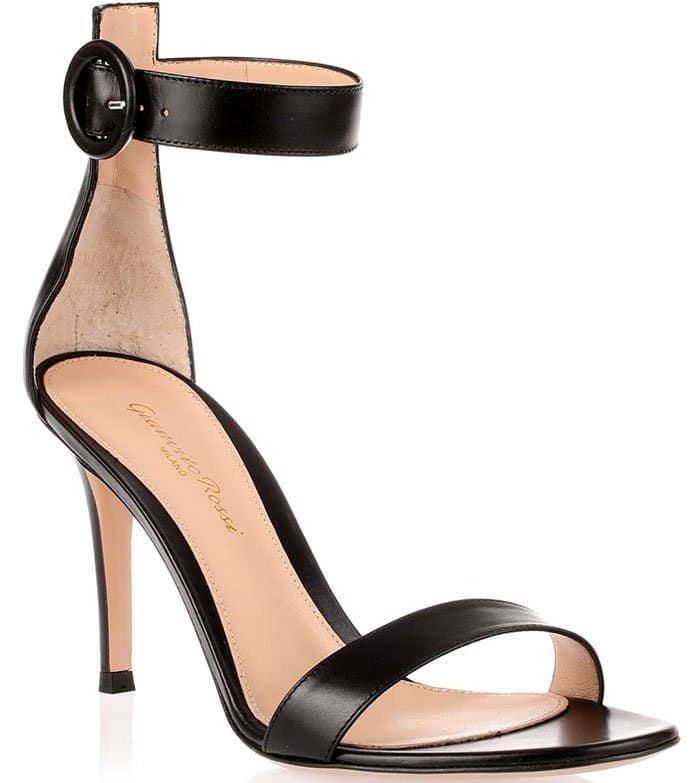 Gianvito-Rossi-Portofino-Black-Leather-Sandals