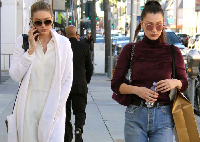 Gigi Bella Hadid Shopping Adidas Balenciaga 1