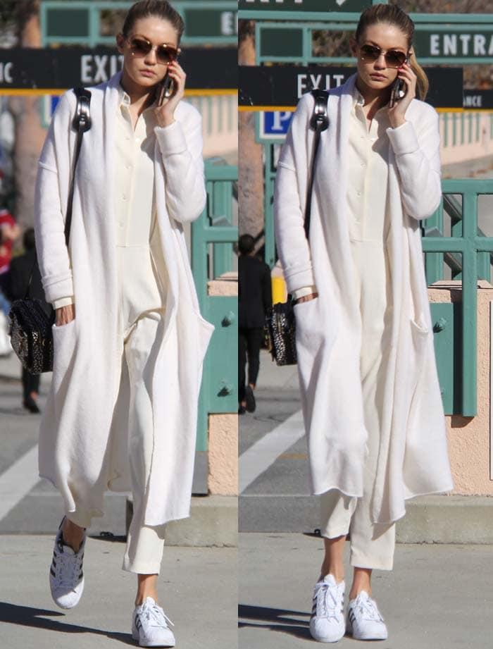 Gigi Bella Hadid Shopping Adidas Balenciaga 2