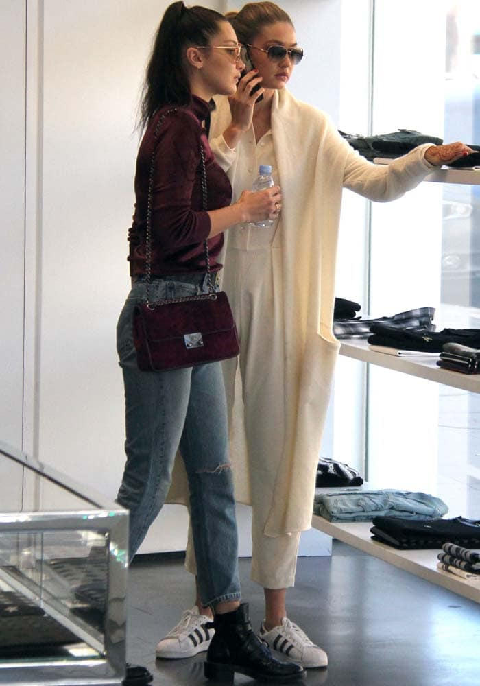 Gigi Bella Hadid Shopping Adidas Balenciaga 6