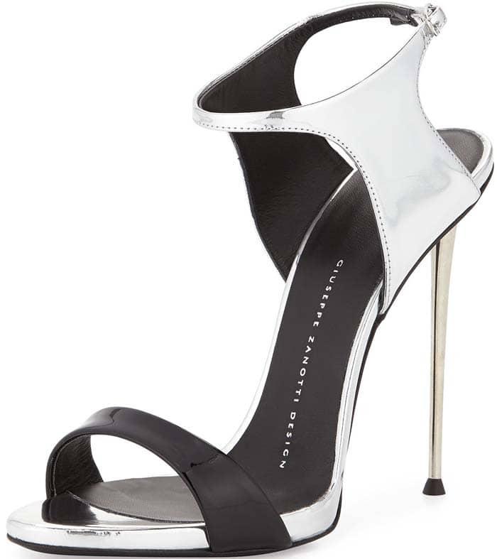 Giuseppe Zanotti Patent Metallic Ankle Strap