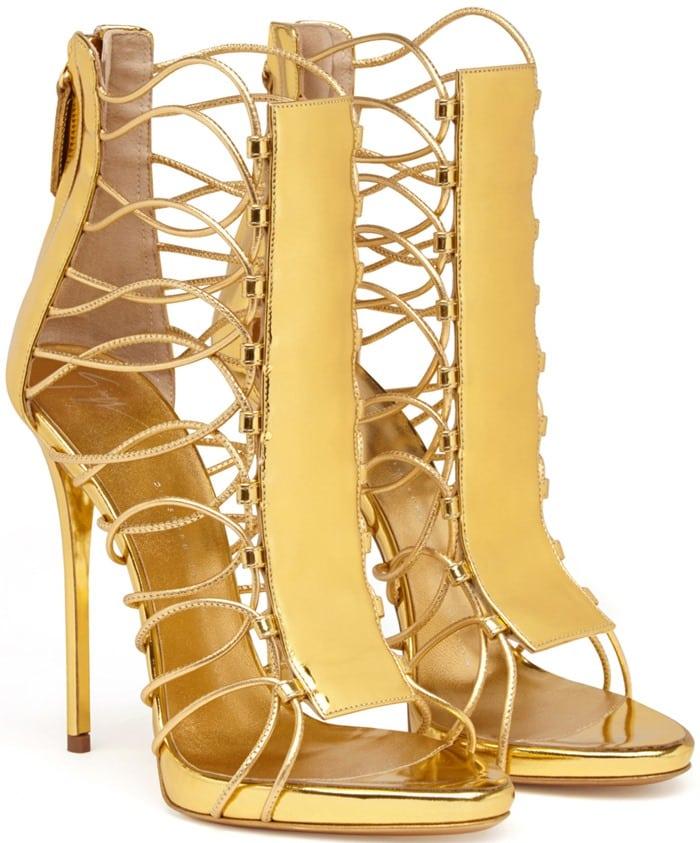 Giuseppe Zanotti ZOEY Gold Cage Sandals