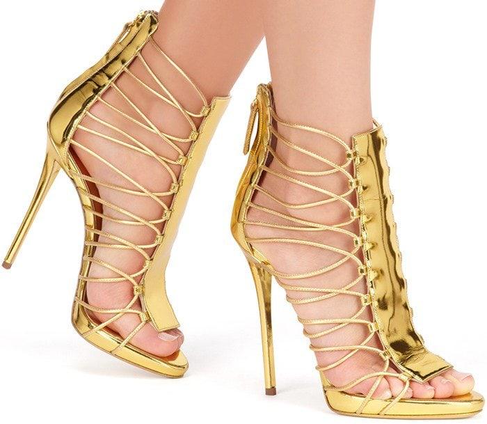 Giuseppe Zanotti ZOEY Gold Sandals