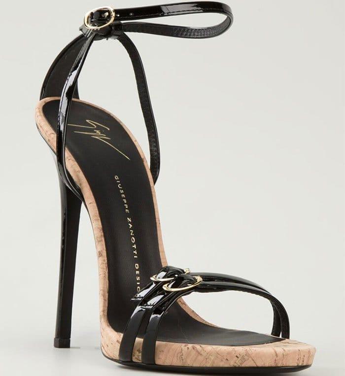 Giuseppe Zanotti Cork Detail Strappy Sandals