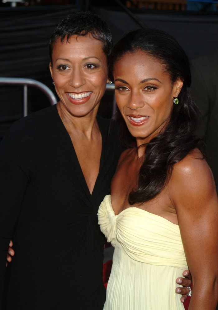 Jada Pinkett Smith with her mother Adrienne Banfield-Norris at the premiere of 'Collateral'