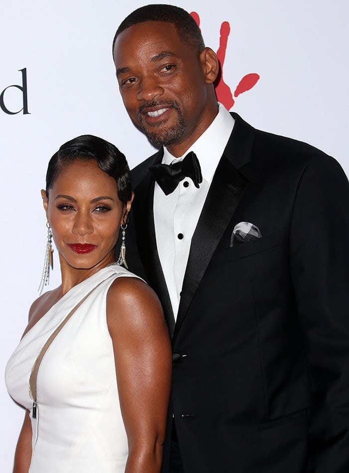 Jada Pinkett Smith and Will Smith pose together on the red carpet