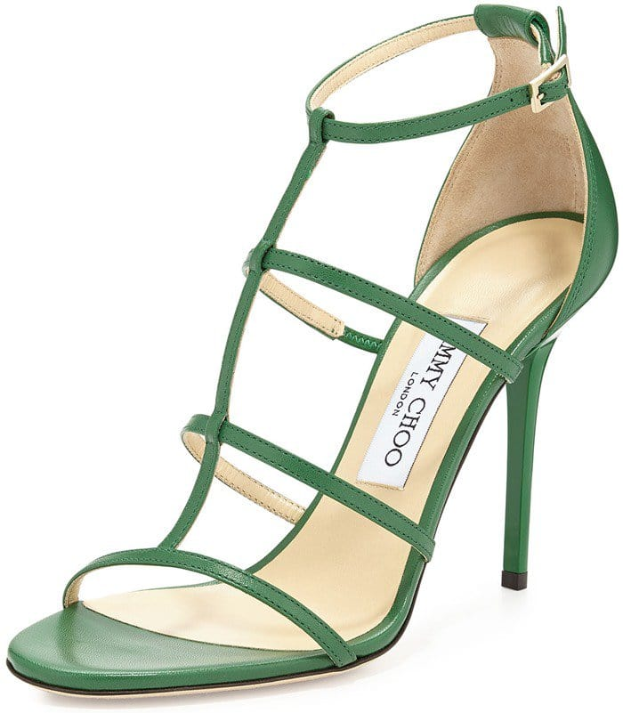 Jimmy Choo Dory Caged Leather Sandal
