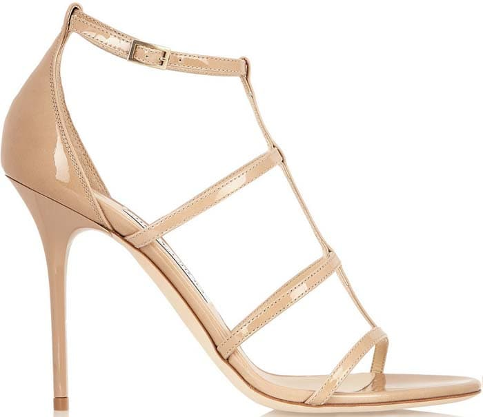 The sleek, caged silhouette makes this sandal a contemporary and versatile alternative to classic pumps