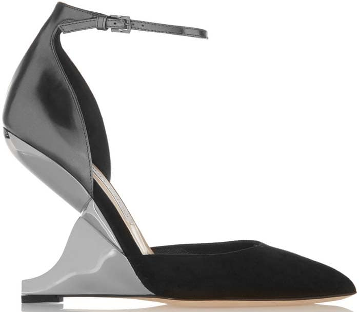 With a structured cutout wedge heel, Jimmy Choo's 'Kade' is a contemporary take on the classic point-toe pump